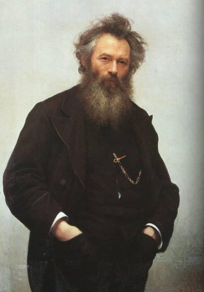 Portrait of Ivan I Shishkin